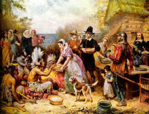 The First Thanksgiving, 1621, by Jean-Leon Gerome Ferris